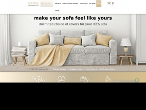 Sofa cover suited to individual tastes
